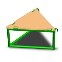 Площадка для горки,в форме треугольника