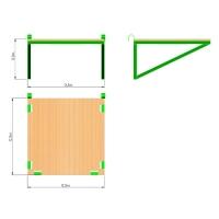 Площадка для горки, в форме квадрата